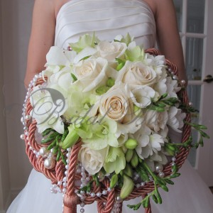 105 Vintage bridal bouquet