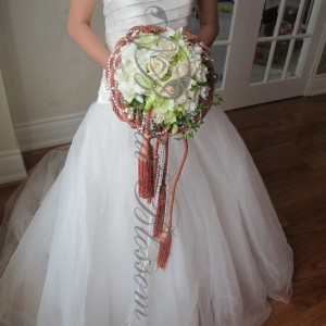 106 Vintage bridal bouquet