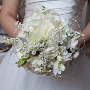 107 Silk bridal bouquet