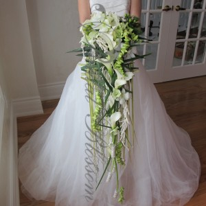 108 Cascading bridal bouquet