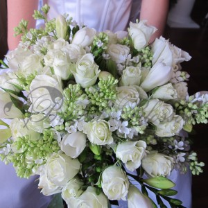 110 Spring bridal bouquet