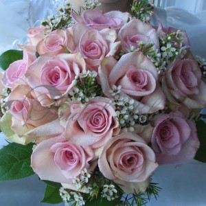 122 Pink roses bridal bouquet