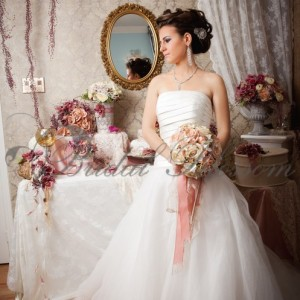 125 Lace and satin bridal bouquet