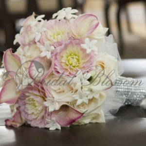 128 Soft pink bridal bouquet