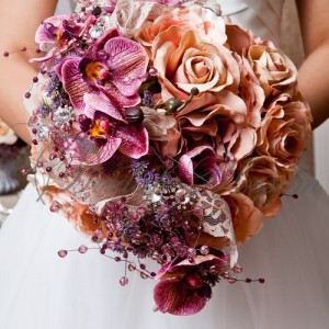 133 Vintage silk bouquet