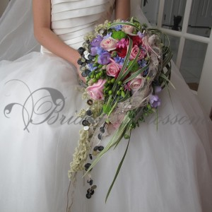 137 Eclectic bridal bouquet