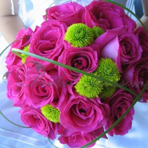 145 Pink roses Bridal bouquet