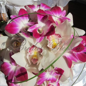 148 Orchids bridal bouquet
