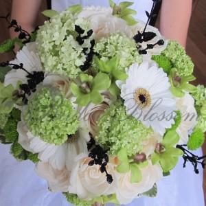 154 Green bridal bouquet