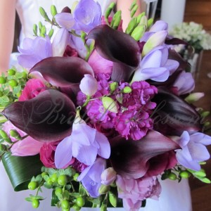 159 Purple bridal bouquet