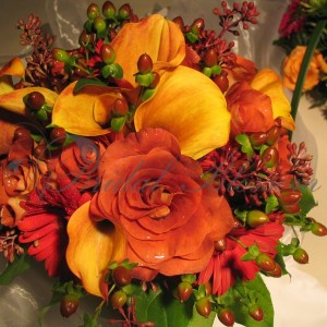 169 Orange and rustic bouquet